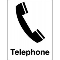Easy-to-fit telephone location signage