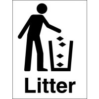 Plastic Litter Information Signs