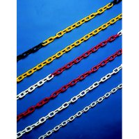 Durable coloured plastic bollard chains