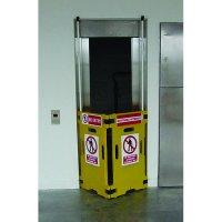 Elevator guard creates a barrier for public elevators and escalators