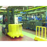 Impact-Resistant Polyethylene Pedestrian Safety Barrier