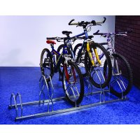 Staggered Height Bicycle Racks