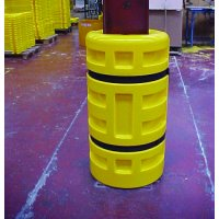 Highly Visible Yellow Polyethylene Cushioning Column Protectors