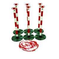 Lightweight Post and Chain Barrier Kits for Indoor or Outdoor Use