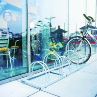 Floor-mounted cycle racks for effective bicycle security