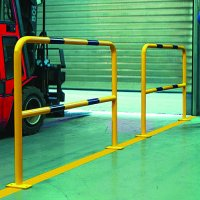 Highly Visible Black and Yellow Steel Hoop Guards