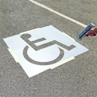 Disabled Parking Bay Road Painting Stencil