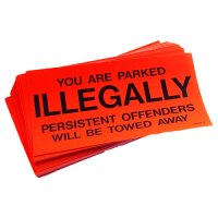 Parking Control Stickers For Outdoor Use