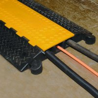 Highly Visible Anti-Slip Outdoor Rubber Cable Protector