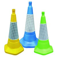 Sand-weighted polyethylene one-piece traffic cones