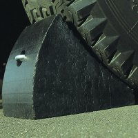 Heavy-duty wheel chocks to secure trucks when unloading