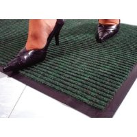 Tough rib, hard-wearing protective mat for entrances