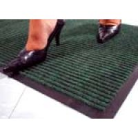 Tough rib, hard-wearing protective mat for entrances
