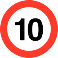 Traffic Signs - Maximum Speed 10 MPH
