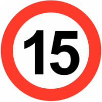 Traffic Signs - Maximum Speed 15 MPH