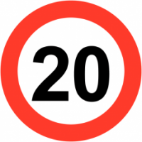 Traffic Signs - Maximum Speed 20 MPH