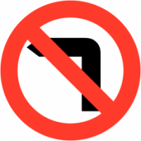 Traffic Signs - No Left Turn
