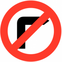 Traffic Signs - No Right Turn