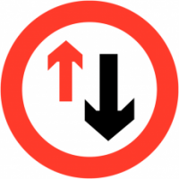 Traffic Signs - Give Way To Oncoming Vehicles