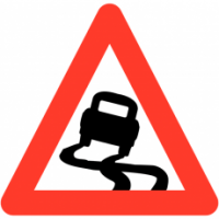 Traffic Signs - Slippery Road