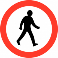Traffic Signs - No Pedestrians Symbol