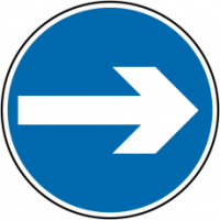 Wall and Post-Mounted One Way Traffic Signs