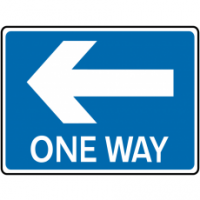 Traffic Signs - One Way Left