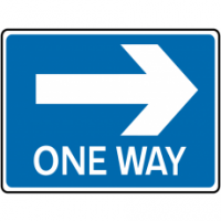 Traffic Signs - One Way Right