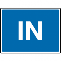Durable Blue 'In' Road Traffic Sign