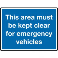 Traffic Signs - This Area Must Be Kept Clear For Emergency Vehicles