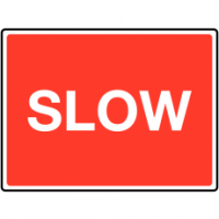 Eye-catching traffic sign - slow