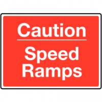 Traffic Signs - Caution Speed Ramps