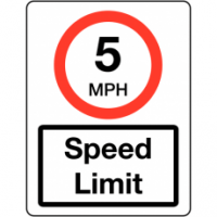 Traffic Signs - Speed Limit 5MPH