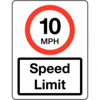 Traffic Signs - Speed Limit 10 MPH