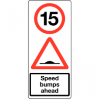Traffic Signs - Speed Bumps Ahead 15