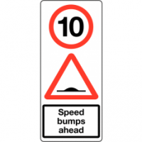 Traffic Signs - Speed Bumps Ahead 10