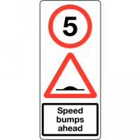 Traffic Signs - Speed Bumps Ahead 5