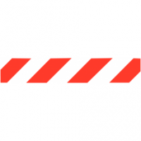 Traffic Signs - White/Red Chevron
