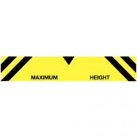 Maximum height industrial traffic signs