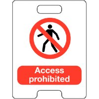 Access Prohibited Temporary Floor Stand