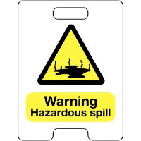 Warning Hazardous Spill Temporary Floor Stand