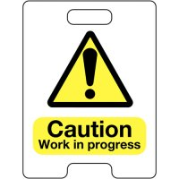 Caution Work In Progress Temporary Floor Stand