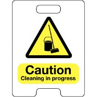 Caution Cleaning In Progress Temporary Floor Stand