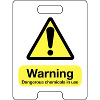 Warning Dangerous Chemicals In Use Temporary Floor Stand