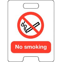 "Temporary A-Board ""No Smoking"" Floor Stand"