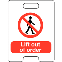 Lift Out Of Order Temporary Floor Stand