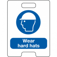 Wear Hard Hats Temporary Floor Stand