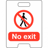 No Exit Temporary Floor Stand
