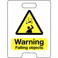 Warning Falling Objects Temporary Floor Stand