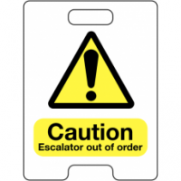 Caution Escalator Out Of Order Temporary Floor Stand